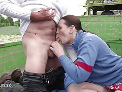German Hardcore Mature MILF Outdoor