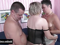German Hardcore Mature MILF Threesome