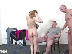German Mature MILF Threesome Voyeur