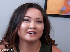 Asian Blowjob Cumshot Interracial