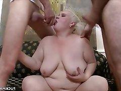 BBW Cumshot Hardcore Mature Threesome