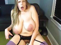 Dildo Masturbation Mature Saggy Tits