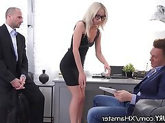Anal Blonde Double Penetration Threesome Skinny