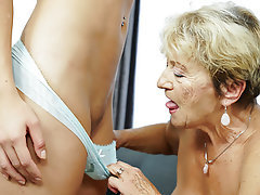 Lesbian Mature Old and Young Granny Saggy Tits