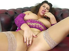 Mature MILF British Dildo Mature