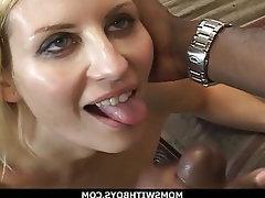 Blonde Blowjob Interracial MILF Big Black Cock