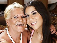 Hairy Lesbian Mature Teen Granny