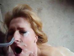 Amateur Blonde Cumshot Facial Mature
