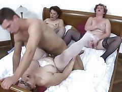 Group Sex Hardcore Lingerie Mature