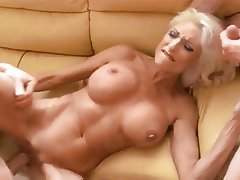 Big Boobs Blonde Hardcore MILF Threesome