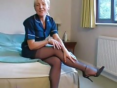 Amateur British Mature Stockings
