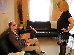 Blonde German Mature Stockings