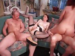 Double Penetration German Group Sex MILF Swinger