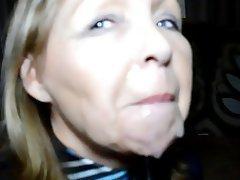 Amateur British Facial MILF