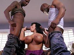 Big Boobs Interracial Pornstar Threesome