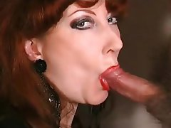Blowjob Facial Lingerie Mature Redhead