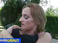 Mature MILF Redhead Old and Young Blowjob