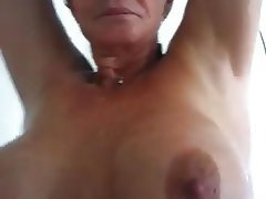 Amateur Mature MILF Shower